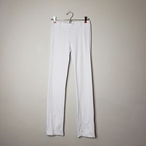 BETABRAND White Slim Straight yoga dress pants